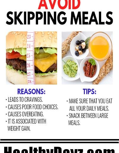 Avoid skipping meals