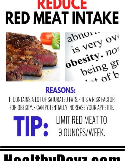 Reduce Red Meat Intake