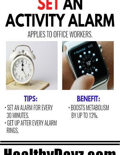 Set an Activity Alarm